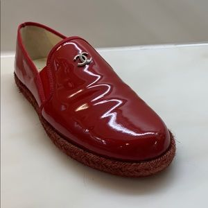 Authentic Chanel brandnew red patent leather shows
